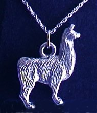 Standing Llama Necklace